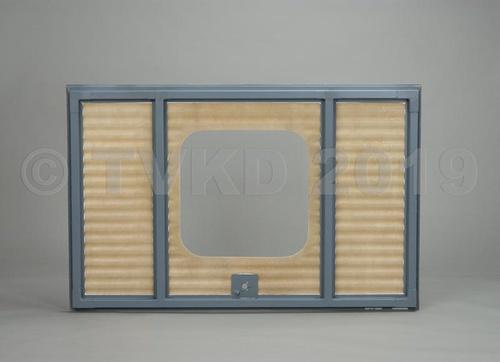 HY achterklep compleet vierkant raam, polyester