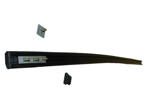 rubber op bumper voor- achter zwart met bevestigingsklemmen