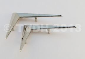 DS Onderdelen - Set chevrons zilverkleurig