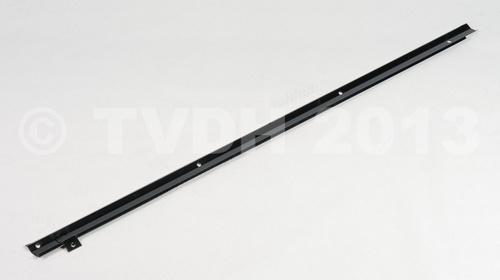 Afdekstrip electr.draad in koffer, zwart gemoffeld