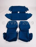 AMI 6  /  AMI 8 Onderdelen - set zetelhoezen ami 8 blauw velours / 2stoelen+achterbank