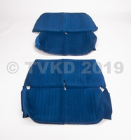 2CV Onderdelen - set zetelhoezen blauw azam