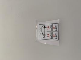2CV Onderdelen - sticker bandenspanning