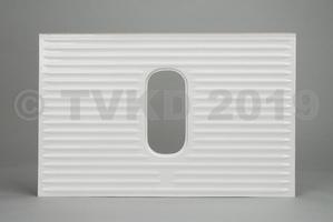 HY Onderdelen - HY buitenhuid van achterklep ovaal raam, polyester