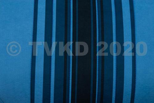 set zetelhoezen blauw gestreept 2 stoelen  symm/1 bank met zijkanten