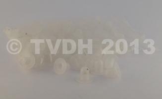 DS Onderdelen - Witte nylon dopjes (10)