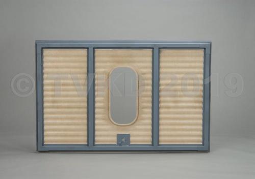 HY achterklep compleet ovaal raam, polyester