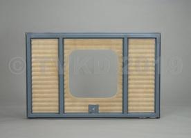 HY Onderdelen - HY achterklep compleet vierkant raam, polyester