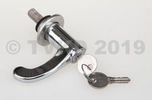 2CV Onderdelen - deurklink met sleutel oud type