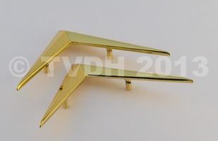 DS Onderdelen - Set chevrons goudkleurig