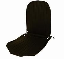 2CV Onderdelen - hoes stoel rechts zwart skai ronde hoeken