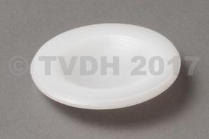 - Afsluitdop wit nylon voor aandrijfas