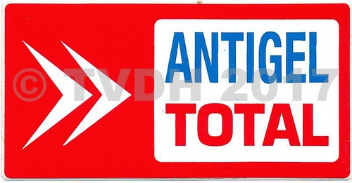 Sticker rood antivries