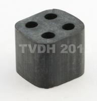 DS Onderdelen - Doorvoerrubber in leidingbundel 4-gats vierkant