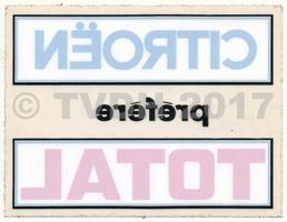 """DS Onderdelen - Sticker """"cit pref total"""", vierkant"""