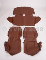 AMI 6  /  AMI 8 Onderdelen - set zetelhoezen ami 8 bruin skai 2 voorstoelen /achterbank
