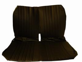 2CV Onderdelen - hoes voorbank zwart skai  met zijkanten