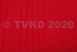 Nieuw op website - set zetelhoezen ami 8 chenille rood  2 voorstoelen + achterbank