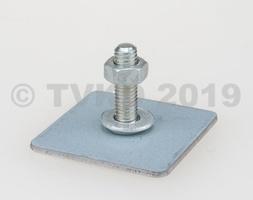 2CV Onderdelen - bevestigingsplaatje rubber op bumper