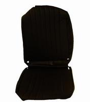 2CV Onderdelen - hoes stoel links zwart skai ronde hoeken