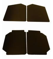 Nieuw op website - set deurpanelen zwart skai groot model