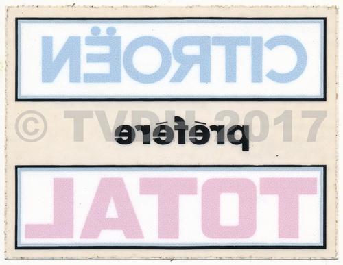 "Sticker ""cit pref total"", vierkant"