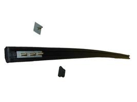 Nieuw op website - rubber op bumper voor- achter zwart met bevestigingsklemmen