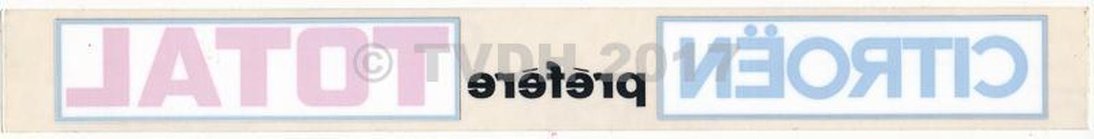 """DS Onderdelen - Sticker """"cit pref total"""", langwerpig"""