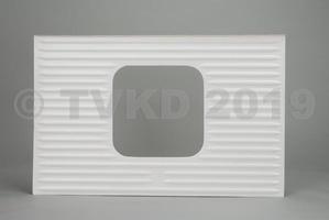 HY Onderdelen - HY buitenhuid van achterklep vierkant raam, polyester